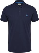SELECTED Slharo - Polo Shirt Men Blue