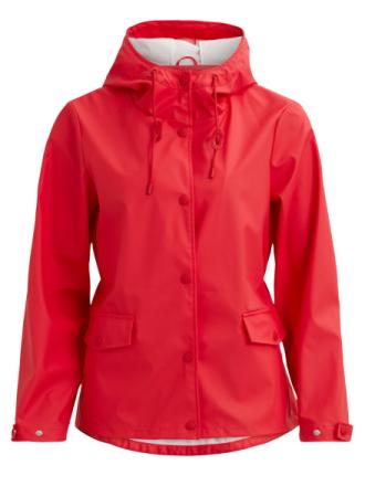 VILA Simple Rain Jacket Women Red