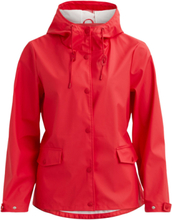 VILA Simple Rain Jacket Women Red