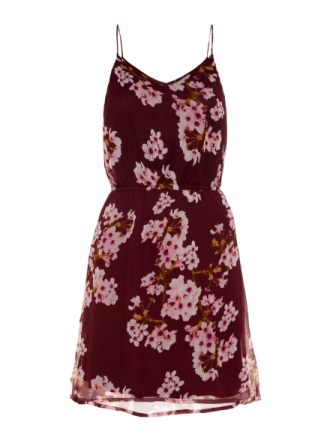 VERO MODA Summer Sleeveless Dress Women Purple