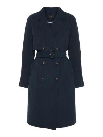 VERO MODA Long Trenchcoat Women Blue
