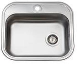 Juvel køkkenvask 480x340mm med hanehul og strainer, mat K480B1