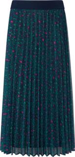 Plisseret nederdel leopardprint Fra Looxent multicolor