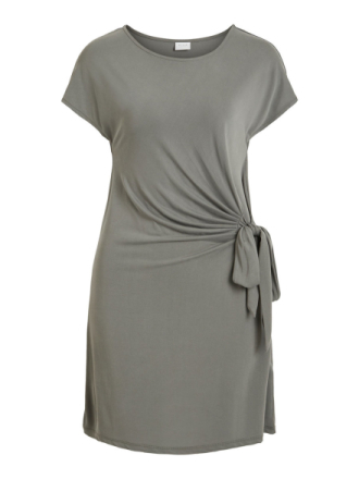 VILA Knot Detail- Dress Women Grey