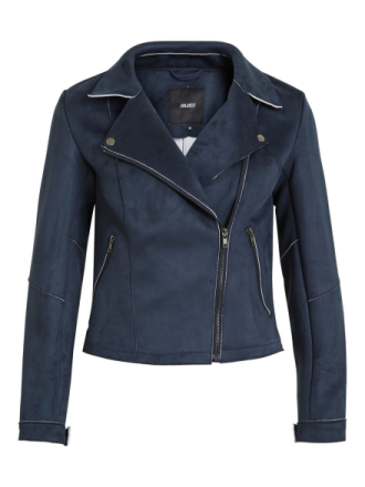OBJECT COLLECTORS ITEM Suede- Faux Leather Jacket Women Blue