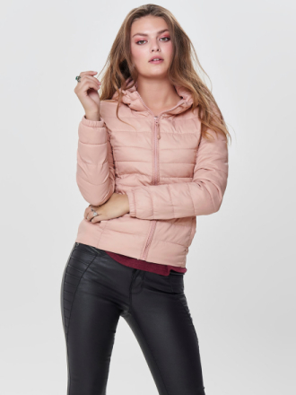 ONLY Short Quilted Jacket Women Pink