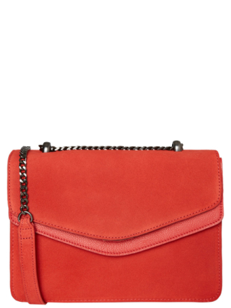 PIECES Suede Crossbody Bag Women Red