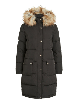 VILA Down Coat Women Black