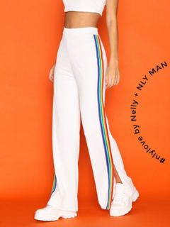 NLY Trend Rainbow Stripe Pants Byxor & shorts Vit