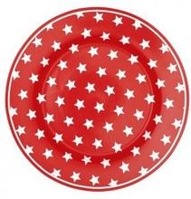 Tallrik Star red 20,5