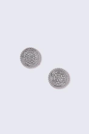 Silver Look Crystal Detail Stud