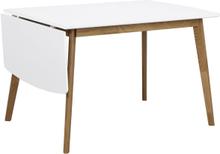 Olivia klaffbord Vit/ek 120 x 80 cm