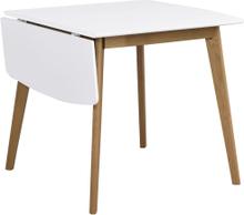 Olivia klaffbord Vit/ek 80 x 80 cm