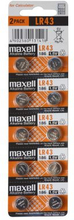 MAXELL Maxell LR43 10-pack 11716900 Replace: N/AMAXELL Maxell LR43 10-pack