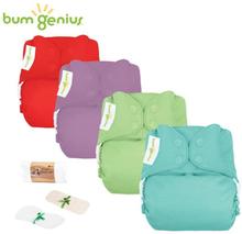 BumGenius - Freetime (AIO) - Einsteiger Paket (4 Stück & GRATIS Zubehör)