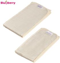 Blueberry - Capri Einlagen (100% Bio-Baumwoll-Prefolds) - 2 Stück - One Size (80x13 cm)