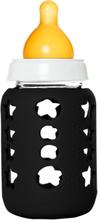 KeepJar - Babyflaschen Bausatz (inkl. Naturkautschuksauger, Silikonhülle) - Nachhaltig Innovativ - Schwarz