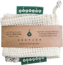 KeepJar - Bio-Stoff-Obstbeutel (100% GOTS-Bio-Baumwolle) - Ohne Plastik einkaufen - Größe S - (2 Stück)