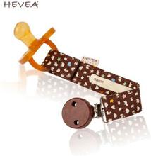 Hevea - Schnuller-Band mit Clip aus Bio-Baumwolle - Braun