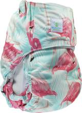 Blümchen - Kinder & Erwachsenen Stoffwindel (Inkontinenz Windel) - Flamingo - L (Erwachsene) Bundweite 85-130cm