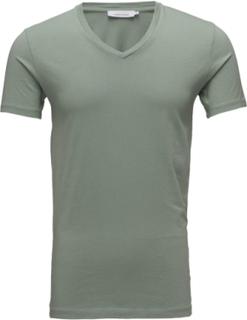 Marian Male V-Neck Basic 273 T-shirt Grøn Samsøe & Samsøe