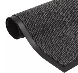 vidaXL måtte med støvkontrol rektangulær tuftet 40 x 60 cm antracitgrå