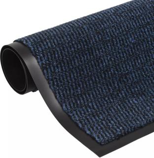 vidaXL måtte med støvkontrol rektangulær tuftet 90 x 150 cm blå