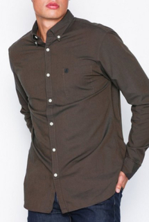 Selected Homme Slhregcollect Shirt Ls W Noos Skjorter Teak