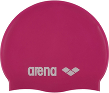 arena Classic Silicone Swimming Cap Barn fuxia-white 2020 Badehetter