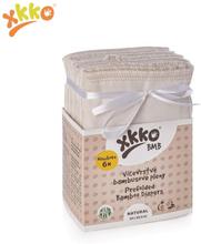 XKKO - BMB Prefolds - Bambusviskose - 6 Stück - versch. Größen - Newborn (gelber Saum) - 29x30,5 cm (2-5 kg)