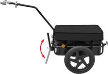 Cykelanhænger / Trækvogn sort 70 l