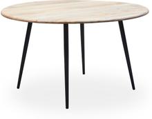 Tessa runt matbord D130 cm - Trä/svart