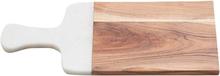 Skärbräda 24x23 - Naturligt trä/vit