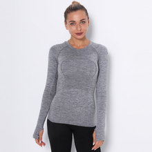 Lulu women's long sleeve sports Yoga T-shirt quick drying crew neck Yoga vest running top sweat tight fit clothes for women