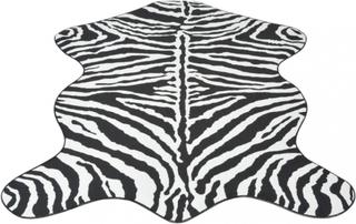 Formet teppe sebramønster - 150x220 cm
