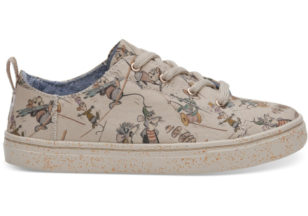 TOMS Schuhe Disney X Taupe Gus & Jaq Youth Lenny Sneakers - Größe 36
