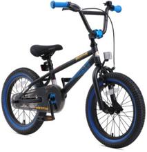 bikestar Lasten polkupyörä 16 BMX musta/sininen
