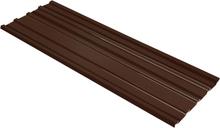 vidaXL Takprofiler 12 st galvaniserat stål brun