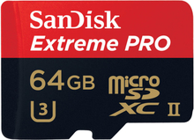 SanDisk 64GB 275MB/s Extreme PRO UHS-II microSDXC Speicherkarte mit USB 3.0 Adapter - SDSQXPJ-064G