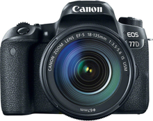 Canon EOS 77D mit EF-S 18-135mm f/3.5-5.6 IS USM Objektiv Digitalkamera