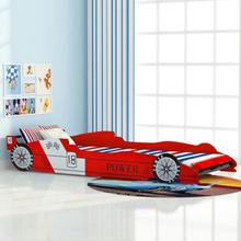 vidaXL racerbilseng til børn 90x200 cm rød