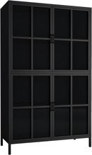 Homexperts Highboard Choice - Vitrine mit 4 Glastüren, schwarz