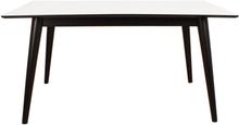 Nora - Esstisch ausziehbar, Weiß/Schwarz, 150/190/230 cm