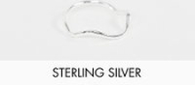 ASOS DESIGN – Ring i sterlingsilver med vågig design
