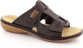 Rieker sandal med lav hæl, (Sort)