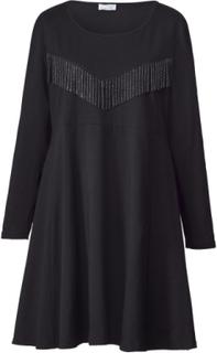 Jerseykjole med frynser Angel of Style Svart