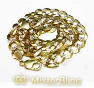 Halsband Diamond Cut 10k Gold Cuban Chain 66cm, 12mm, 82.2 Gram