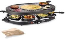 PRINCESS 162700 Raclette-set 8 personer - Svart