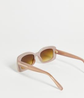 A.Kjaerbede - Salo - Runde unisex solbriller i lysegrå
