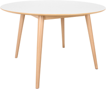 Nora - Esstisch rund, Weiß, Ø120 cm